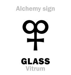 Alchemy glass vitrum vector