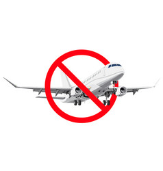 Ban flying forbidden sign with realistic style vector