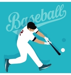Baseball player hit ball american sport athlete vector