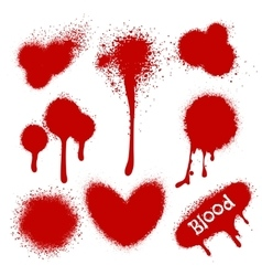 Blood splatters isolated on white vector