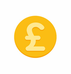 British pound sterling currency symbol on gold vector