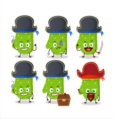 Cartoon character green gloves with various vector