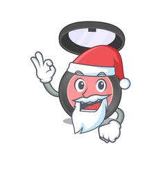 Cartoon character pink blusher santa with cute vector