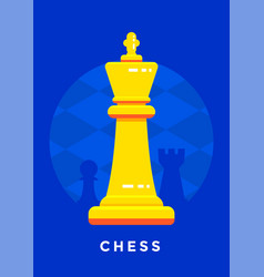 Chess sport poster design vector