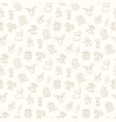 christmas pattern isolated vector image