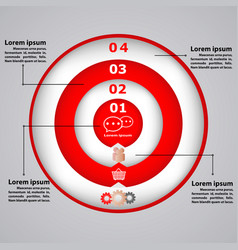 circular diagram with icons for business concepts vector image