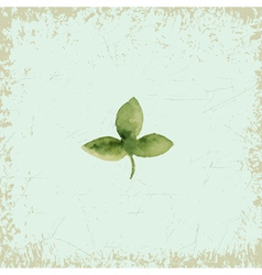 Clover on vintage background watercolor vector