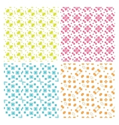 Collection of four simple geometric vector image