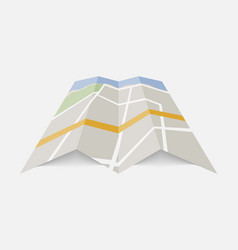 color city map icon isolated on background modern vector image