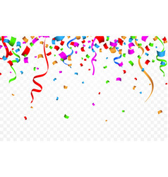 colorful confetti celebration carnival ribbons vector image