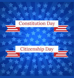 Constitution day and citizenship day in the vector