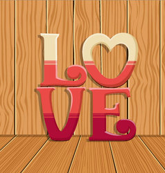 Cute Love design background vector