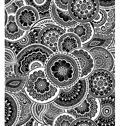 Decorative seamless pattern Zen-tagle style vector image