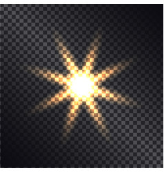 Defocused lightning sun on transparent background vector