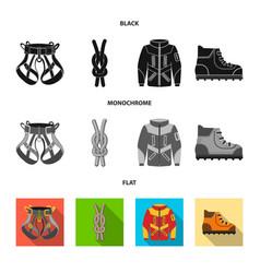design of mountaineering and peak symbol vector image