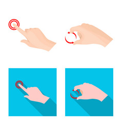 Design of touchscreen and hand icon vector