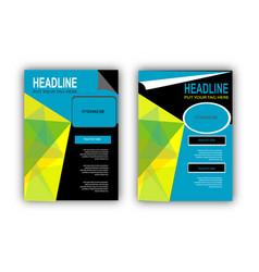 Double style flyer design vector