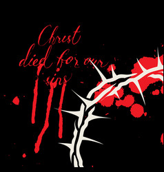 easter banner christ died for our sins vector image