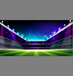 empty soccer field before game cartoon vector image