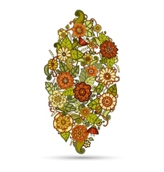 Ethnic floral zentangle doodle pattern vector