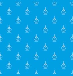 excavator bucket pattern seamless blue vector image