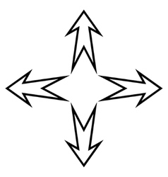 Expand arrows contour icon vector