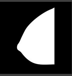 Female breast white color icon vector