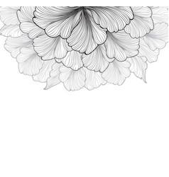 floral background flower bloom cover flourish vector image