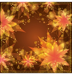 Floral background with decorative golden ornament vector image vector image