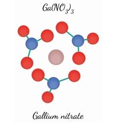 Gallium nitrate GaN3O9 molecule vector image