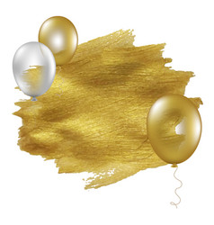 golden blot with balloons vector image