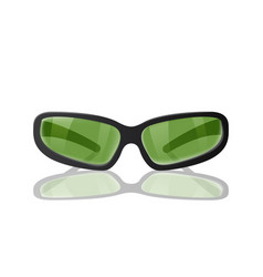 Green glasses for protection from the sun vector