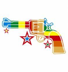 Gun rainbow vector