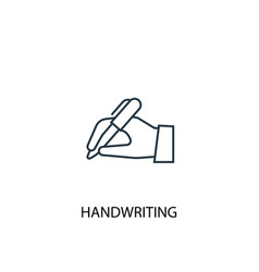 Handwriting concept line icon simple element vector