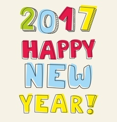 Happy new year 2017 wishes vector