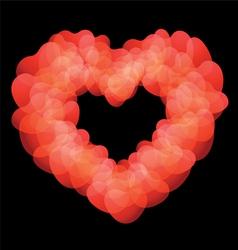 Heart shape on black background vector image