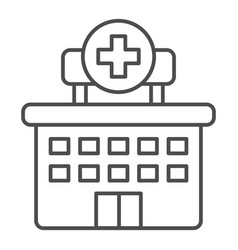 hospital thin line icon clinic vector image