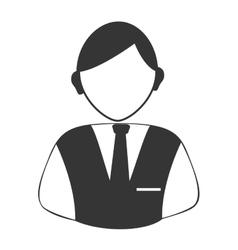 Hotel recepcionist profile vector image