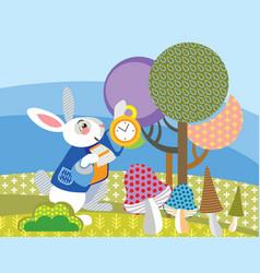 image white rabbit vector image