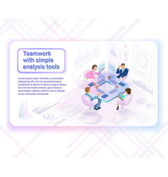 innovative business analysis tools concept vector image