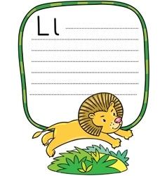 Little funny lion for ABC Alphabet L vector
