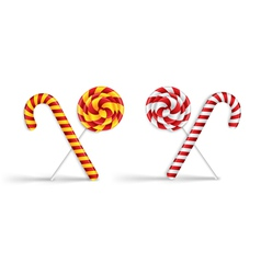 Lollipops and candy canes vector