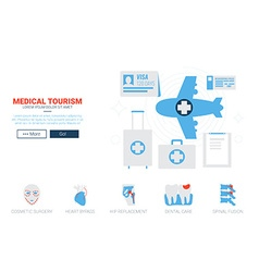 Medical Toruism Website Template vector image