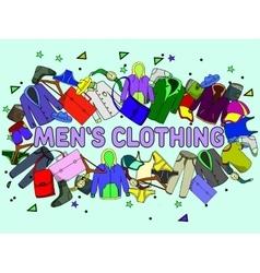 Men clothing vector image