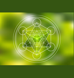Merkaba sacred geometry spiritual new age logo vector