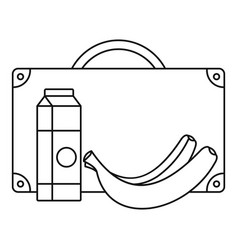 Milk banana lunch icon outline style vector