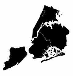 new york city silhouette map vector image