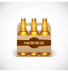 Packaging beer vector