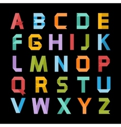 Paper color alphabet vector image