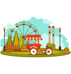 Park of entertainments vector